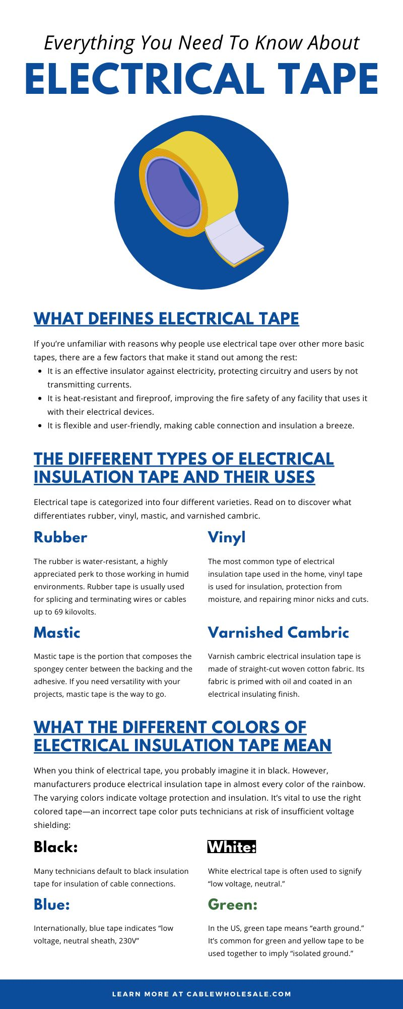 Everything You Need To Know About Electrical Tape