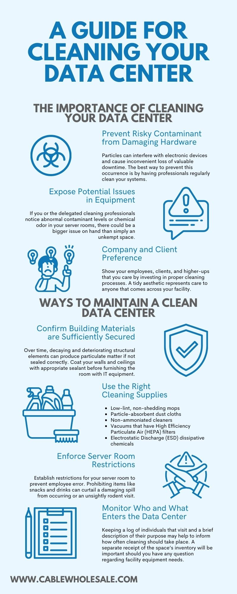 Data Center Cleaning Infographic