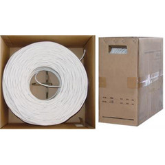 Cable Wholesale RG6 Coaxial Cable, Quad-Shielded 18AWG  Solid White, 1000 ft, Pullbox at Sears.com